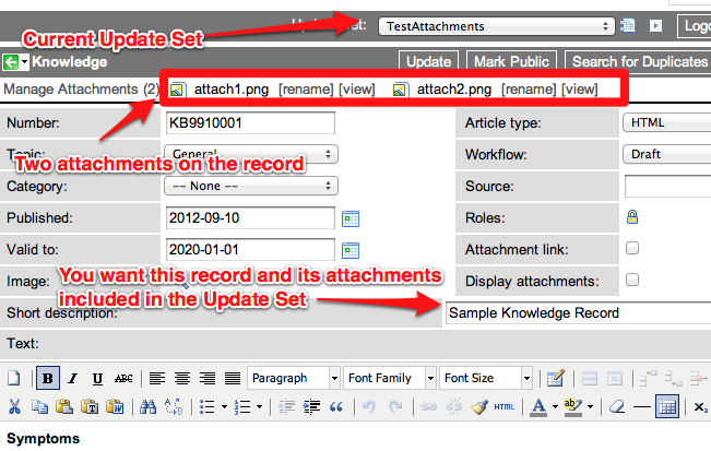 Adding Record Attachments to ServiceNow Update Sets | John Andersen