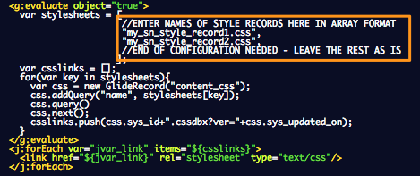 Referencing Multiple Styles with ServiceNow UI pages | John Andersen